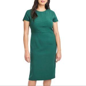 Universal Standard for J Crew Green Twill Dress
